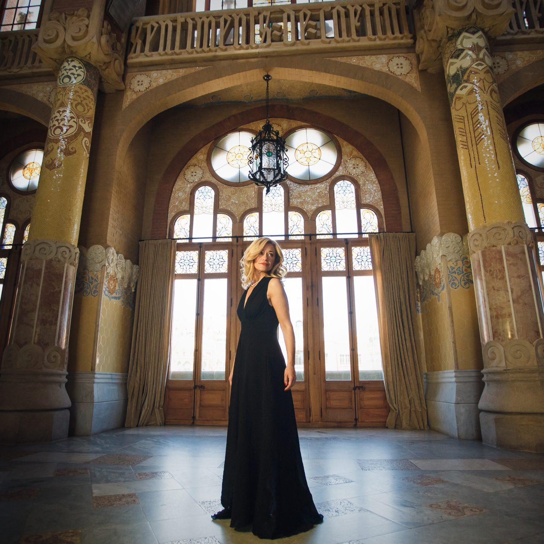 Ekaterina Donchenko actua al Recinte Modernista de Sant Pau